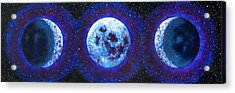 Sacred Feminine Blue Moon Acrylic Print by Shelley Irish