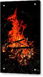 Sacred Fire Acrylic Print by David  Brown