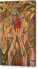 Sacred Heart And Thoughtful Mind Acrylic Print by Carter Gillis