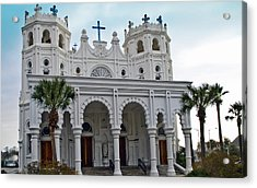 Acrylic Print featuring the photograph Sacred Heart Church by John Collins