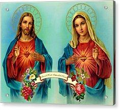 Sacred Heart Immaculate Heart  Acrylic Print