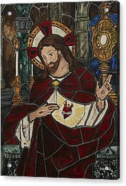 Sacred Heart Of Jesus Acrylic Print by Greg Willits