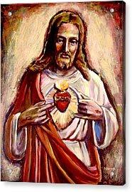Sacred Heart Acrylic Print