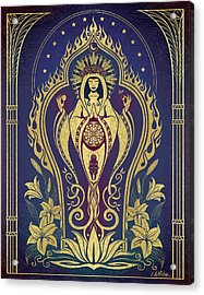 Sacred Mother - Global Goddess Series Acrylic Print by Cristina McAllister