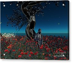 Acrylic Print featuring the digital art Sad And Lonely by Susanne Baumann