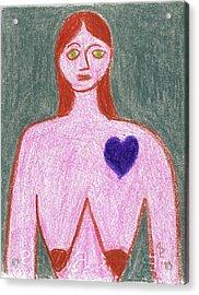 Sad Acrylic Print by Anita Dale Livaditis