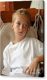 Sad Boy In Rocker Acrylic Print