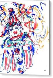 Sad Clowns I Acrylic Print