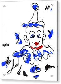 Sad Clowns Iv Acrylic Print