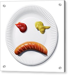 Sad Food Face Acrylic Print by Smetek