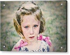Sad Girl Digital Art Acrylic Print by Susan Leggett