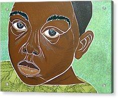 Sad Little Boy Acrylic Print