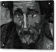 Sad Man Acrylic Print by Ayse Deniz
