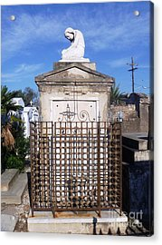 Acrylic Print featuring the photograph Saddest Statue Tomb by Alys Caviness-Gober