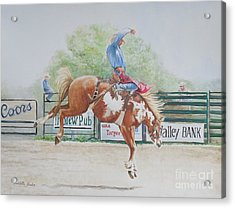 Saddle Bronc Acrylic Print by Charlotte Yealey