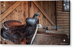 Saddle Rest Acrylic Print by Steven Milner