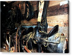 Saddles 103 Acrylic Print by Vinnie Oakes