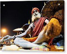 Sadhu Acrylic Print by Money Sharma