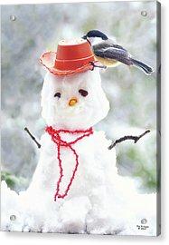 Sadies Snowman Acrylic Print