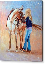 Sadling Up Acrylic Print by Dale Estka