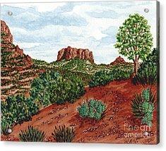Sadona Two Mountains Acrylic Print