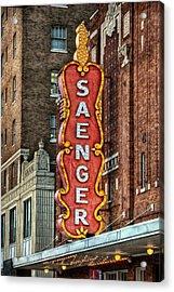 Saenger Acrylic Print by Brenda Bryant