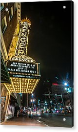 Saenger Theatre Acrylic Print by Andy Crawford