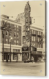 Saenger Theatre New Orleans Sepia Acrylic Print by Steve Harrington
