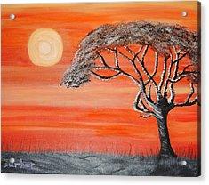 Safari Sunset 2 Acrylic Print