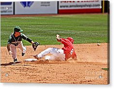 Safe At Second Acrylic Print