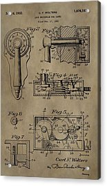 Safe Lock Patent Acrylic Print by Dan Sproul