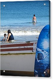 Acrylic Print featuring the photograph Safe To Go In The Water by Brian Boyle
