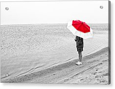 Safe Under The Umbrella Acrylic Print by Karol Livote