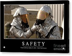 Safety Inspirational Quote Acrylic Print by Stocktrek Images