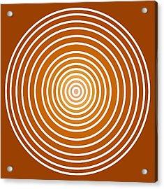 Saffron Colored Abstract Circles Acrylic Print
