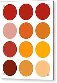 Saffron Colors Acrylic Print by Frank Tschakert