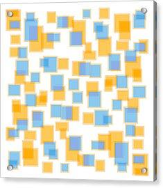 Saffron Yellow And Azure Blue Acrylic Print by Frank Tschakert