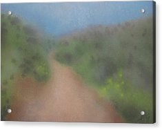 Sagebrush And Coastal Fog Acrylic Print by Robin Street-Morris