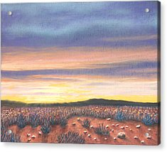 Sagebrush Sunset B Acrylic Print
