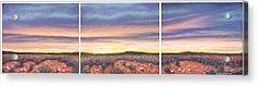 Sagebrush Sunset Triptych Acrylic Print