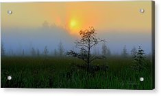 Saginaw Sunrise Acrylic Print by Gregory Israelson