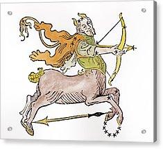 Sagittarius An Illustration Acrylic Print by Italian School