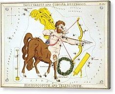 Sagittarius And Corona Australis - Microscopium And Telescopium Acrylic Print by Celestial Images