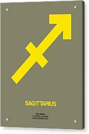 Sagittarius Zodiac Sign Yellow Acrylic Print