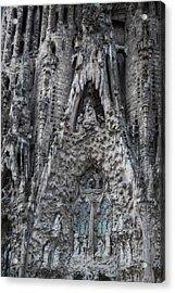 Sagrada Familia Nativity Facade Acrylic Print