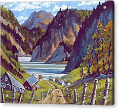 Saguenay Summer By Prankearts Acrylic Print by Richard T Pranke