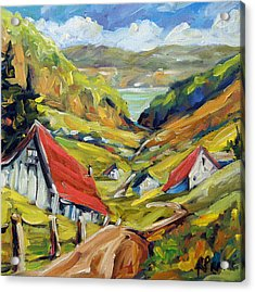 Saguenay Valley By Prankearts Acrylic Print by Richard T Pranke