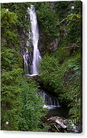 Sahale Falls In Oregon Acrylic Print by Jackie Follett
