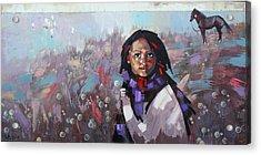 Acrylic Print featuring the painting Sail  by Anastasija Kraineva