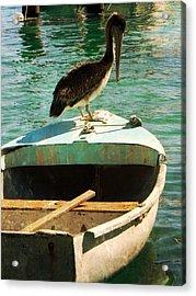 Sail Away Acrylic Print by Leah Moore